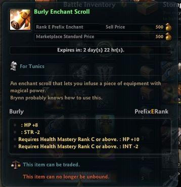 Burly Enchant Scroll